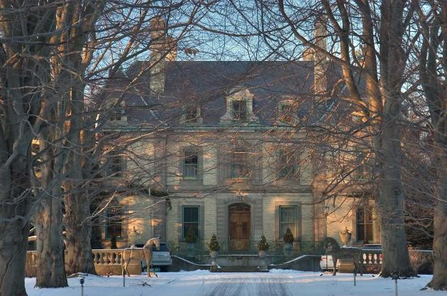 The Orchard Mansion from Narragansett Avenue. Newport, Rhode Island